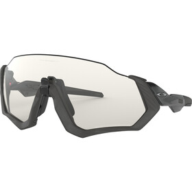 Oakley Flight Jacket Pyöräilylasit, grey ink/clear black iridium photo activated
